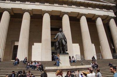 George Washington was inaugurated here on Wall Street