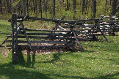 Gettysburg Battlefield - original fences