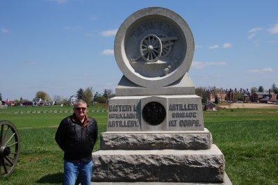 Gettysburg Battlefield - Confederate artillery memorial