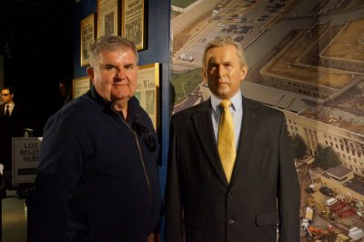 Madame Tussauds Wax Museum where David meets the immovable George W Bush