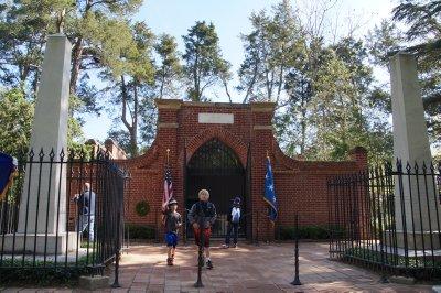 Mt Vernon Mansion -  George Washington's Tomb built <br />1830