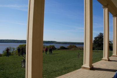 Mt Vernon Mansion - view from the front porch