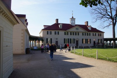 Mt Vernon Mansion - view from the rear