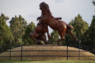 Sculpture at Crazy Horse Mountain
