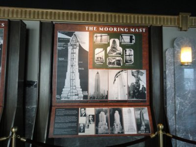 The Empire State Building displays during construction 1929-1931