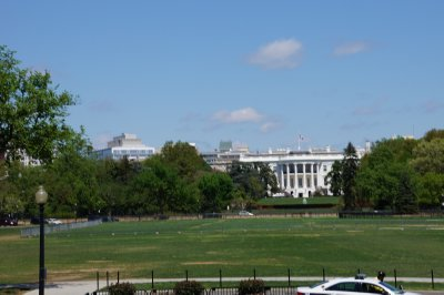 The White House, South Lawn viewed from Constitution Avenue