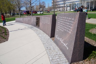 Vice President Hubert H Humphrey statue