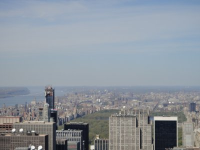 View from The Empire State Building - Central Park is in the background