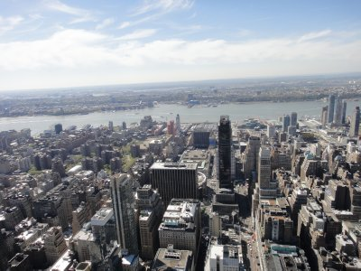 View from The Empire State Building  - view west showing the George Washington Bridge to New Jersey