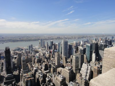 View from The Empire State Building - view west to New Jersey