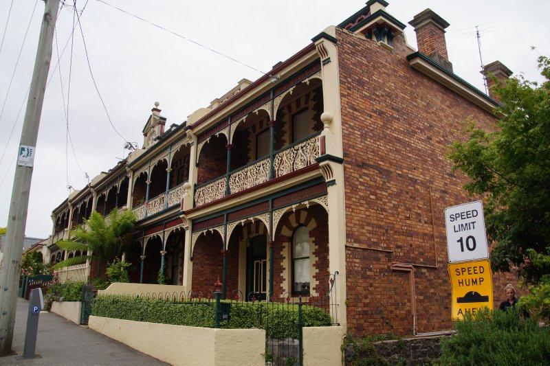 1800s terrace houses in St John Street, Launceston