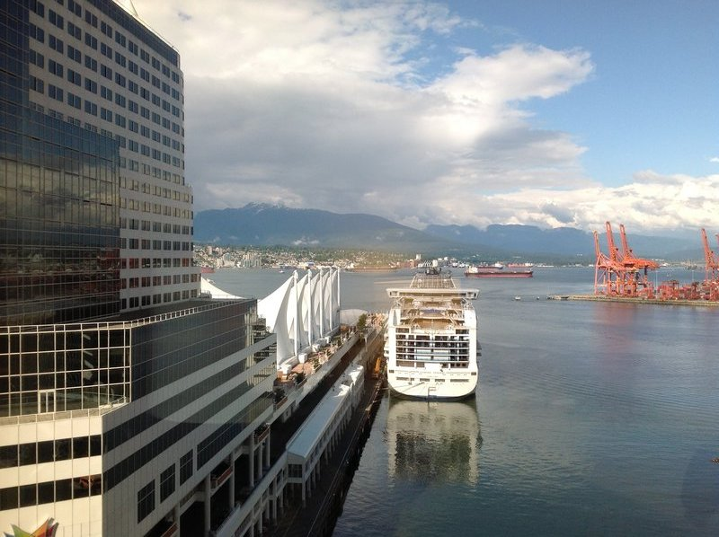 View from our room at The Fairmont Hotel Waterfront Room 1614