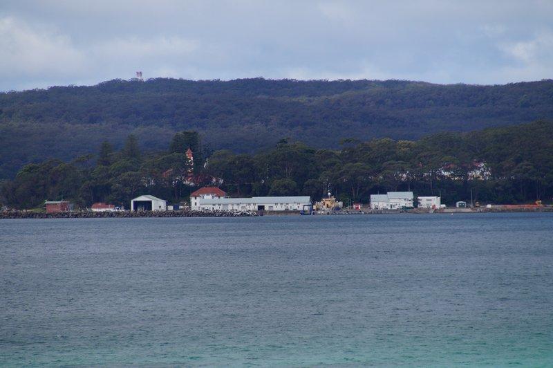 HMAS Creswell seen from Hyams Beach