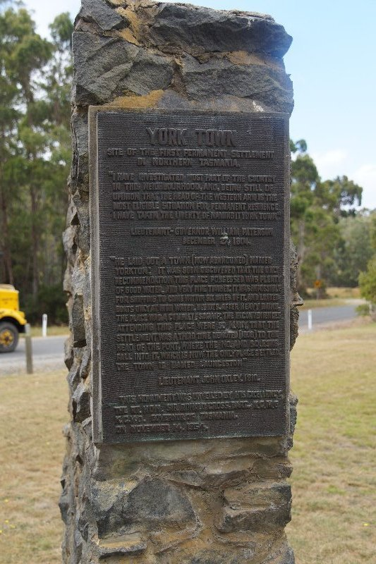 York Town - first permanent settlement in northern Tasmania