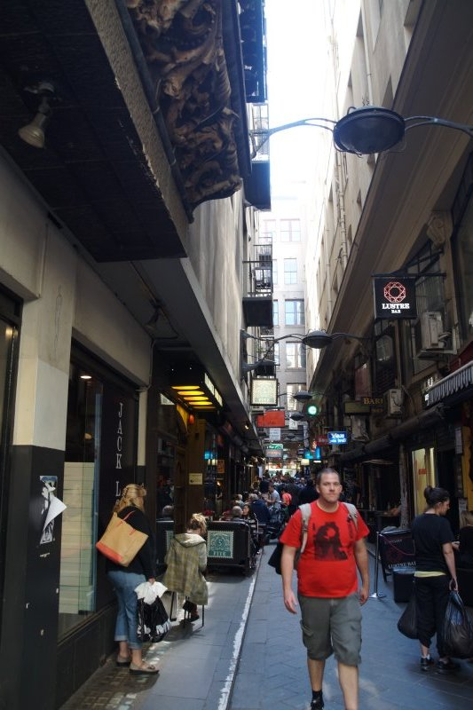 Another of Melbourne CBD'd iconic laneways with cafes and restaurants (2)