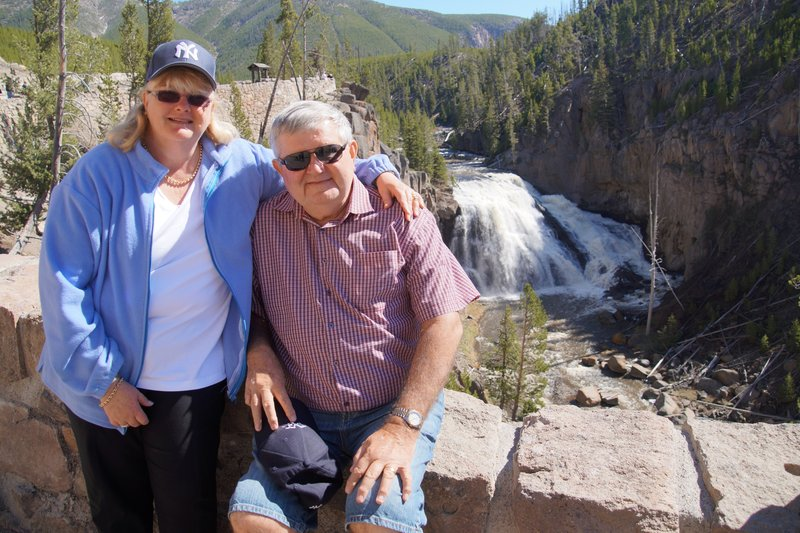 Colleen and David at Lower Falls