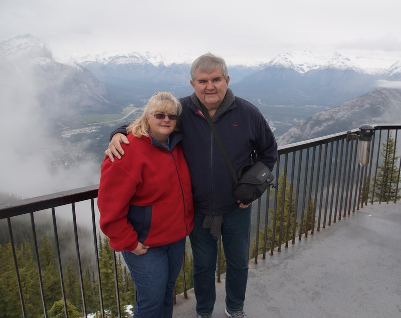 David and Colleen on Sulphur Mountain
