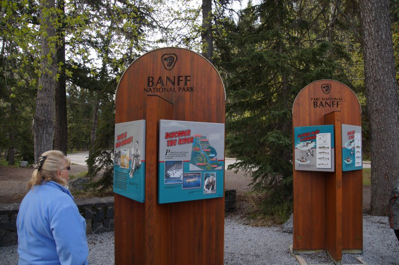 Bow River Information boards