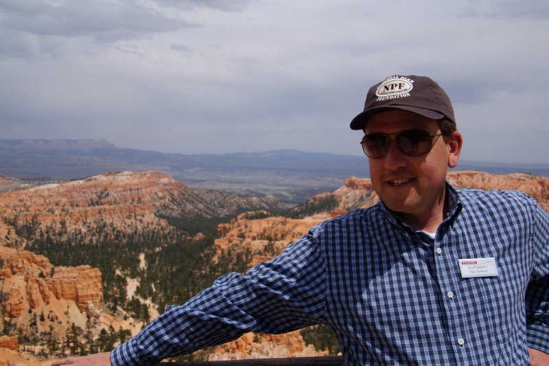 Bryce Canyon NP, Inspiration Point - Scott, our Tour Director