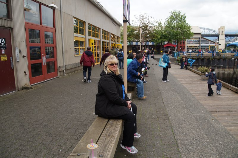 Colleen at Granville Island Markets