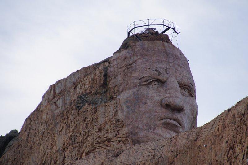Crazy Horse Monument taking shape