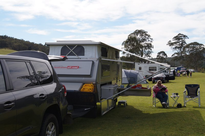 Campground at Kangaroo Valley