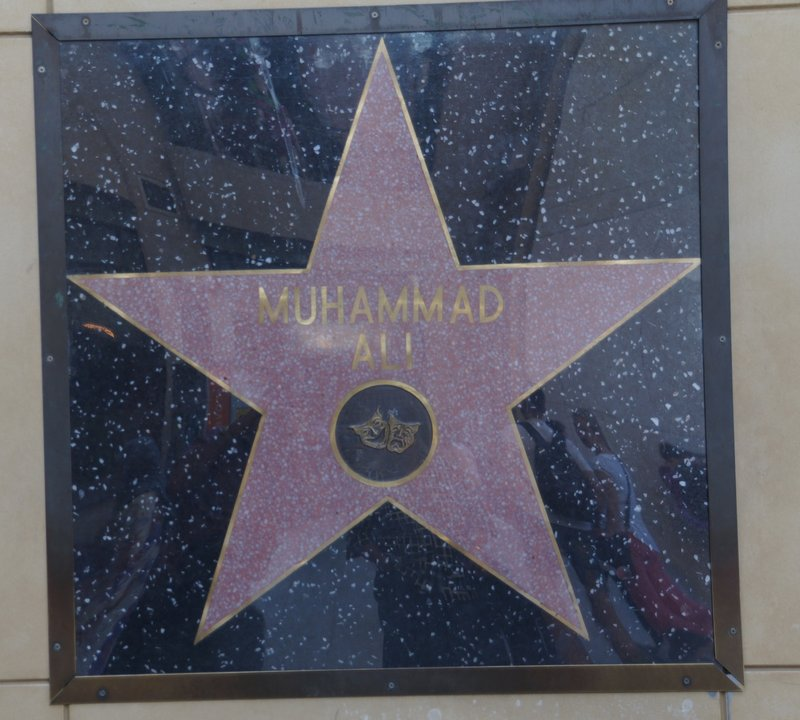 Muhammad Ali's star is on the wall in the Dolby Theatre