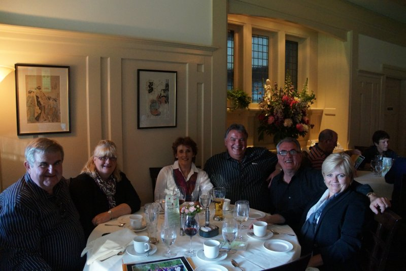 Farewell dinner -David, Colleen, Donna , Richard, Greg and Deb - dinner at Butchart Gardens