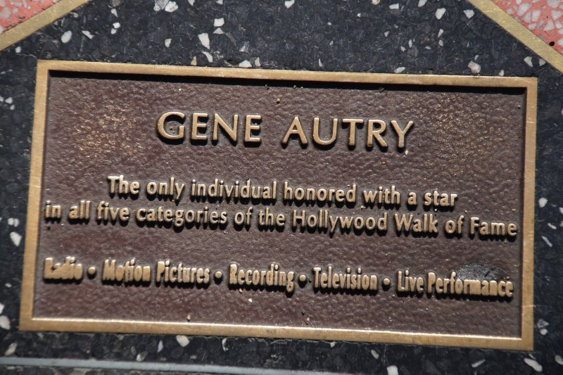 Gene Autry - only star awarded a star in all 5 categories