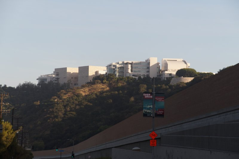 Getty Center designed by Richard Meier view from Highway 403 1