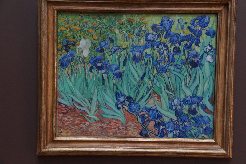 Getty Centre Vincent Van Gogh IRISES previously owned by Alan Bond