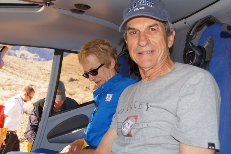 Grand Canyon view Phil in the Eurocopter