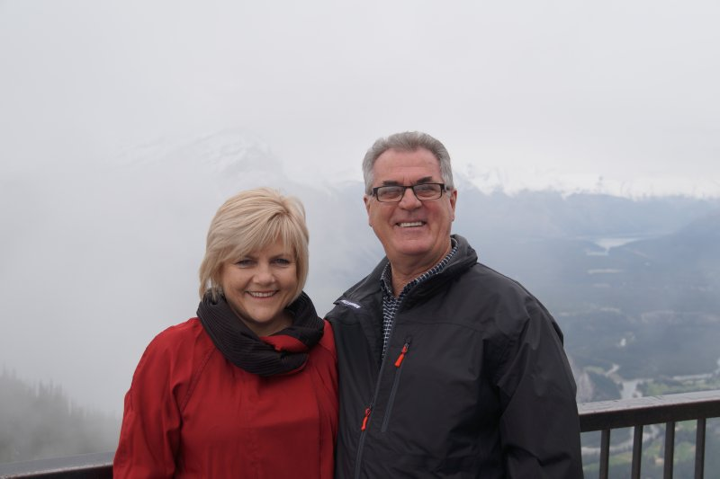 Greg and Deb on Sulphur Mountain