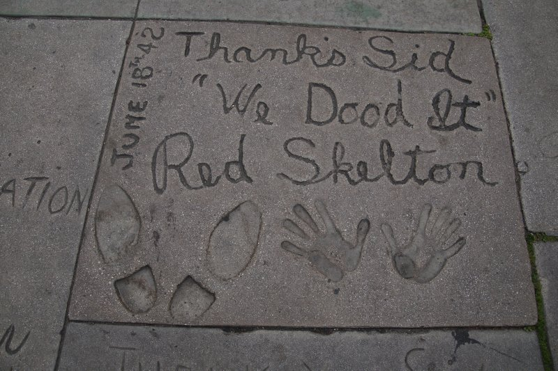 Hollywood Boulevard - Red Skelton at Grauman's Chinese Theatre