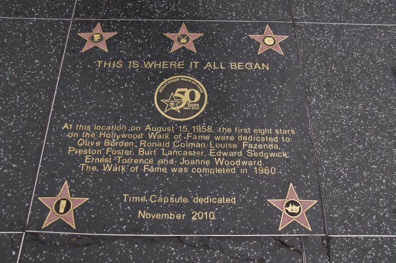 Hollywood Boulevard  - the Hollwood Walk of Fame on Hollywood Boulevard