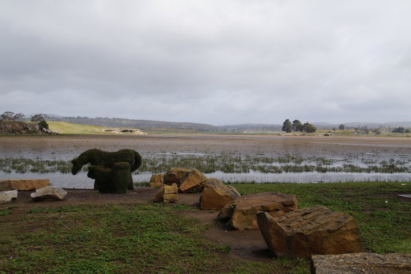 Lake Dulverton Camping Area at Oatlands