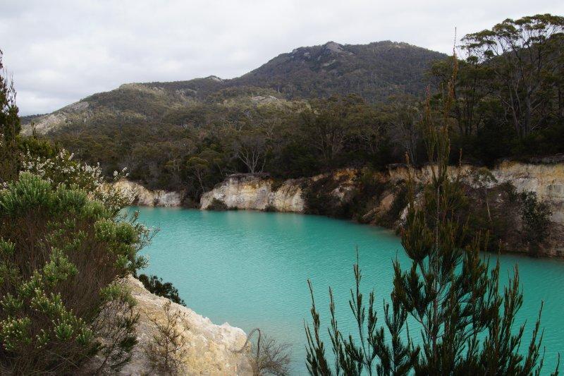 Little Blue Lake near  South Mt Cameron