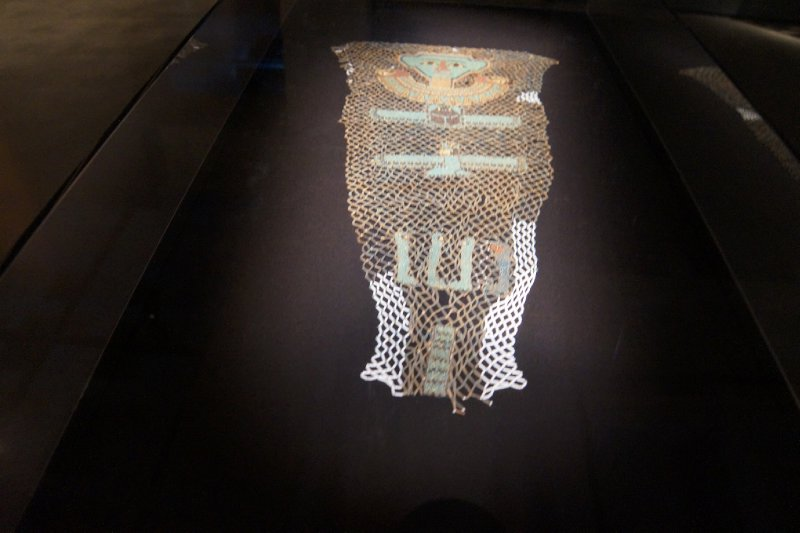 MONA - 2500 year old bead covering for a mummy