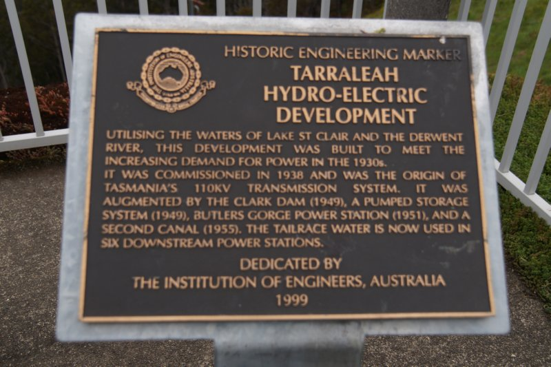 Nive River Hydro-Electric Station, Tarraleah