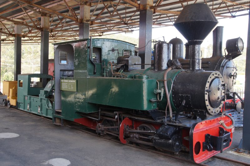 No 8 Krauss Locomotive at Zeehan Pioneers Museum
