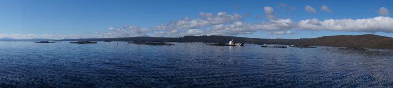 Panorama of Petuna Fish Farm, Macquarie Harbour (4)