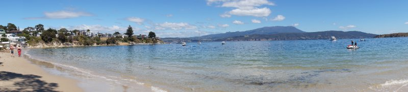 Panorama of Opossum Bay Beach