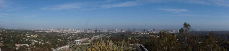 Panorama of View from Getty Center over LA 1