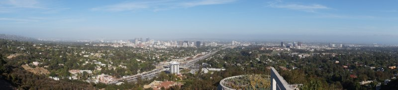 Panorama of View from Getty Center over LA 4