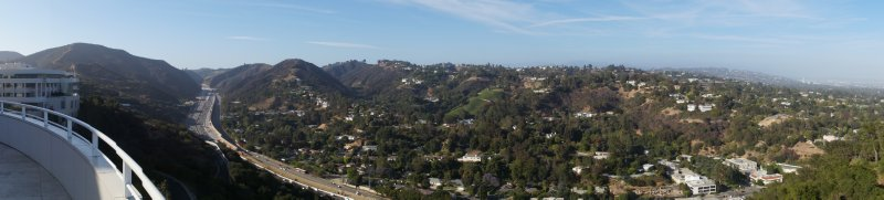 Panorama of View from Getty Center over LA 6