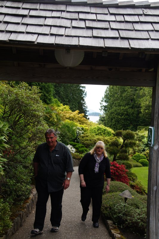Richard and Colleen at The Japanese Garden at  The Butchart Gardens