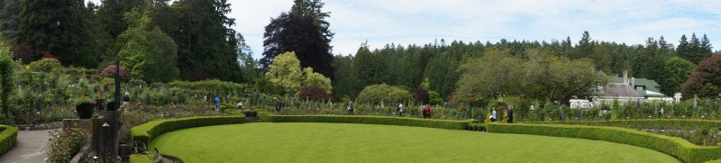 Rose Garden at The Butchart Gardens