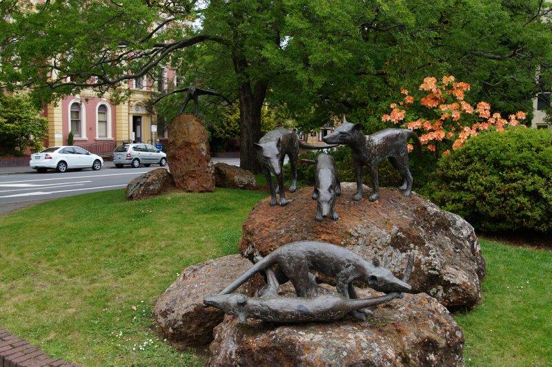 Sculptures in Civic square, Launceston