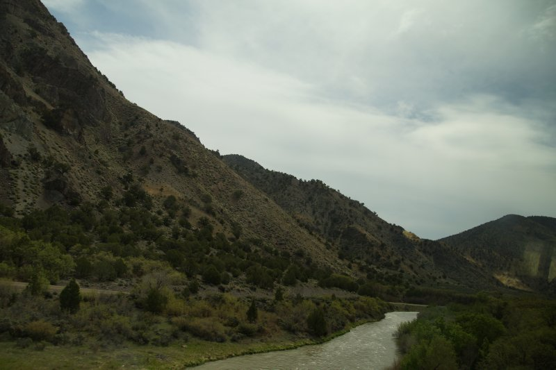 Sevier River driving to Bryce Canyon