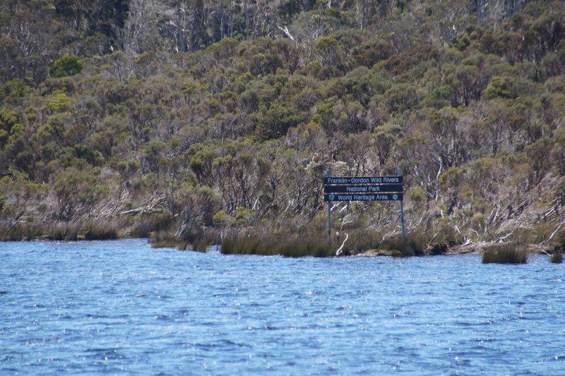 Sign Franklin - Gordon Wild Rivers NP